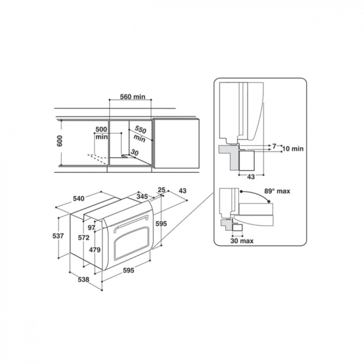 Hotpoint FIT 804 H AN HA forno 73 L A Antracite
