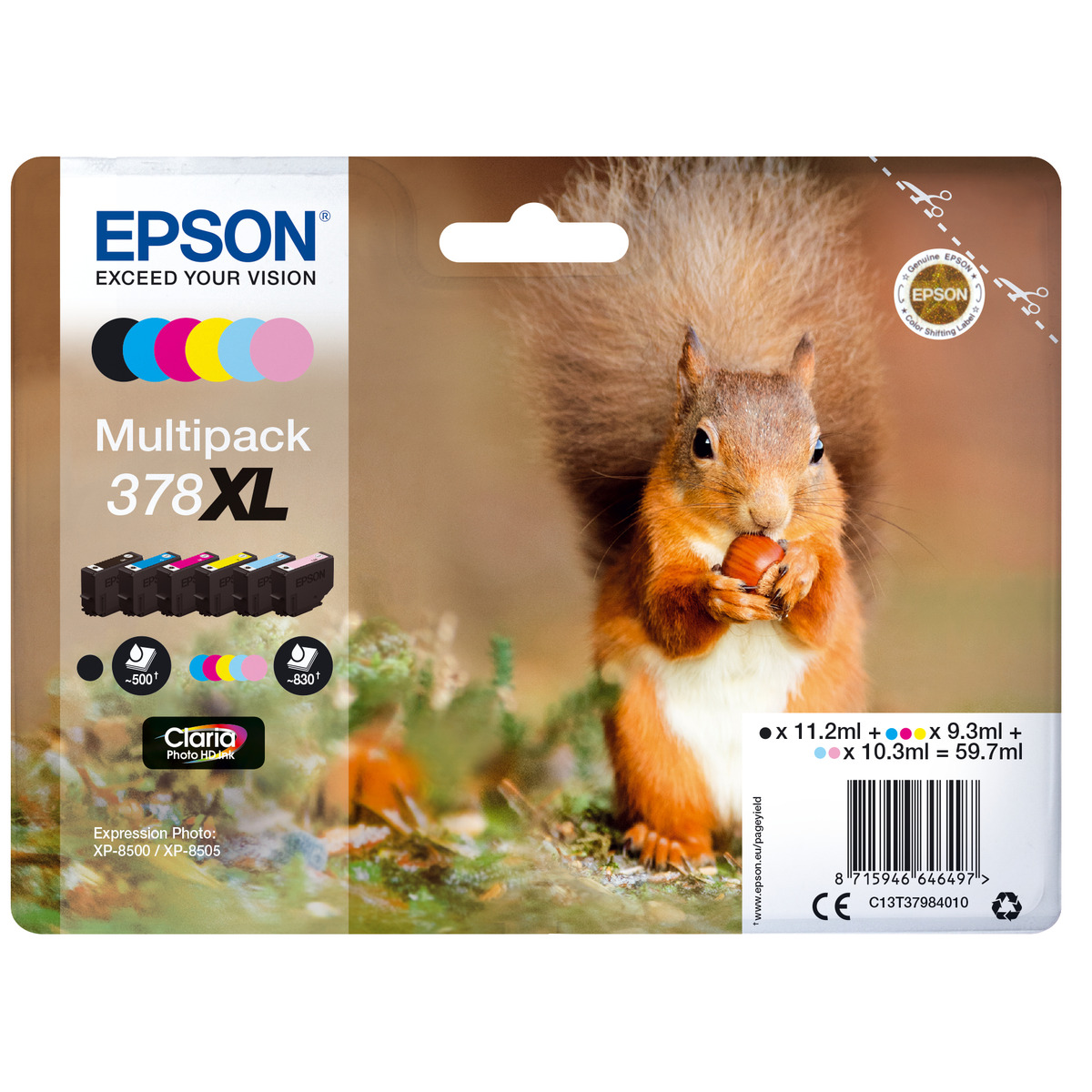 8715946646503-epson-squirrel-multipack-6-colours-378xl-claria-photo-hd-ink